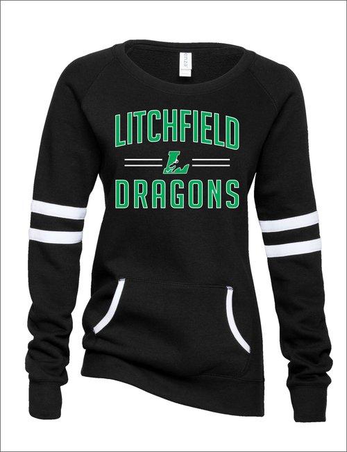Ladies Enza Crewneck Dragons Sweatshirt a255ea24e
