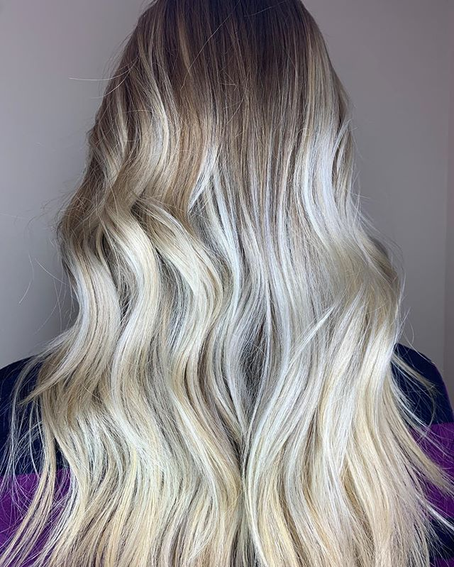 COOL ICY blonde ❄️ beautifully created by @swelshbull #haircolor #blondes#cooltones #bestofbalayage