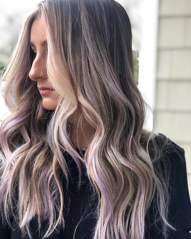 LAVENDER LOVE With BOUNCY LAYERS created by @highvibehair and @stylejfine #calligraphycutrevolution #balayage #blondes #winterhair #lavenderhair #calligraphycut