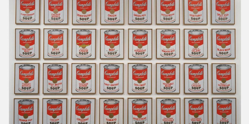 Campbell's Soup Cans by Andy Warhol (screenprint)