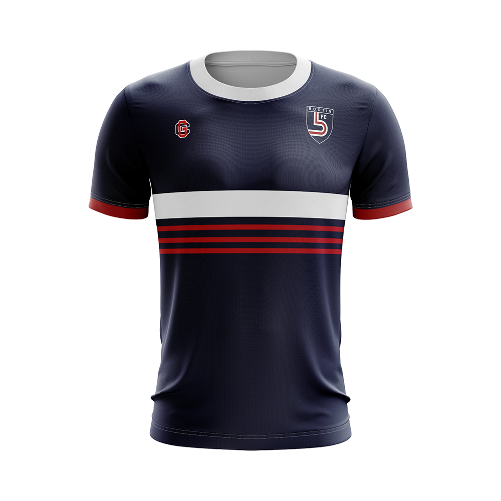 custom navy red striped soccer jersey.png