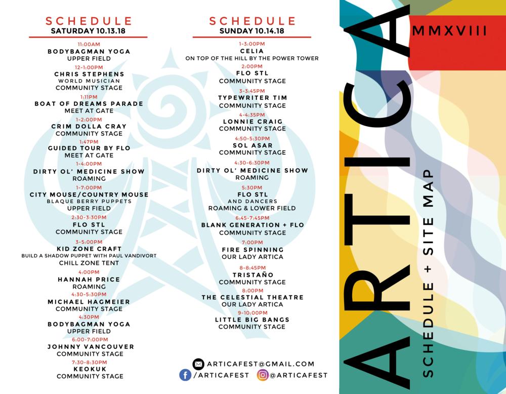 Artica_2018_schedule