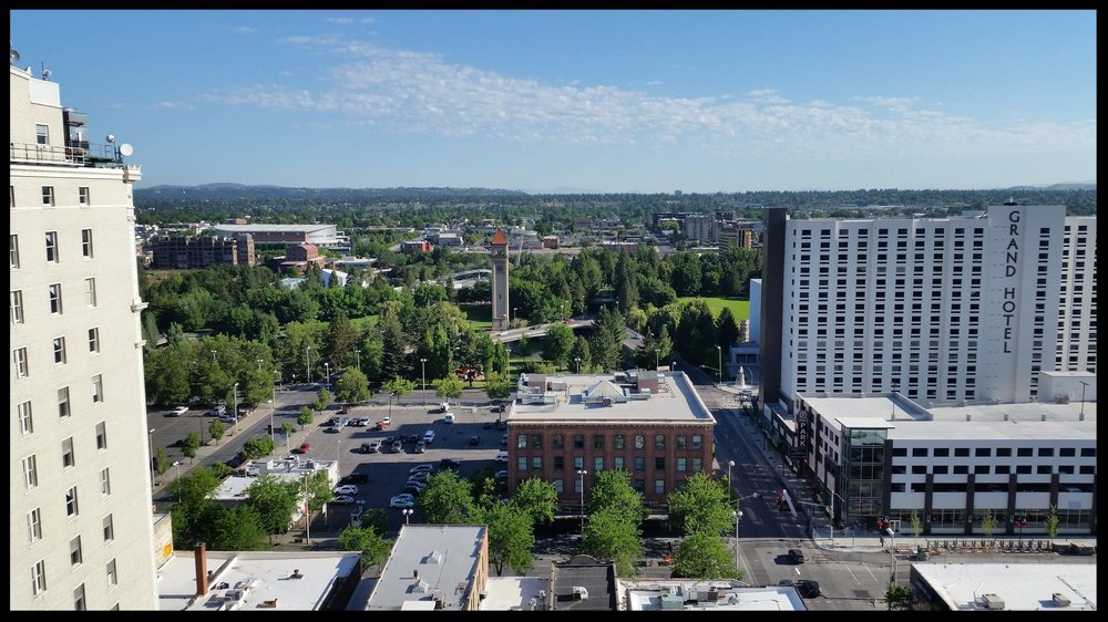 View from the 16th floor of the Chase Bank Building (Spokane, WA) - taken with my Samsung phone