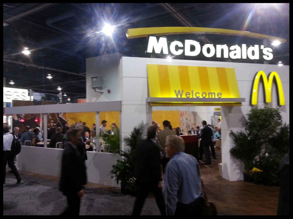The McDonald's booth at the 2014 ICSC Las Vegas convention