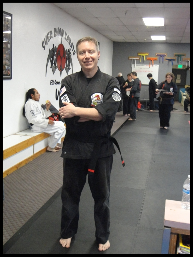 Attending a Northern California seminar, shortly after earning my black belt.