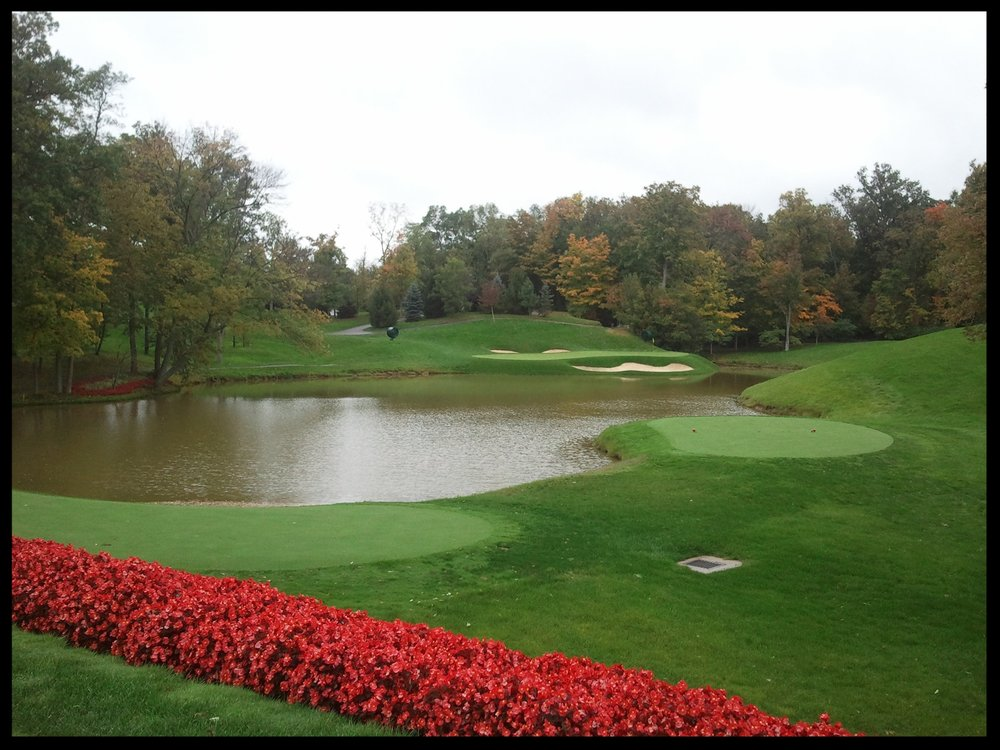 One of the holes at The Muirfield Village Golf Course in Dublin, Ohio.