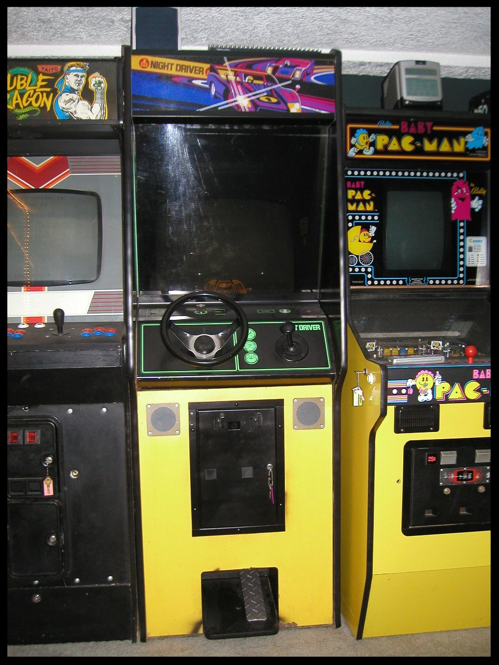 The very clean Night Driver was snuggled in between the Double Dragon and Baby Pac-Man.