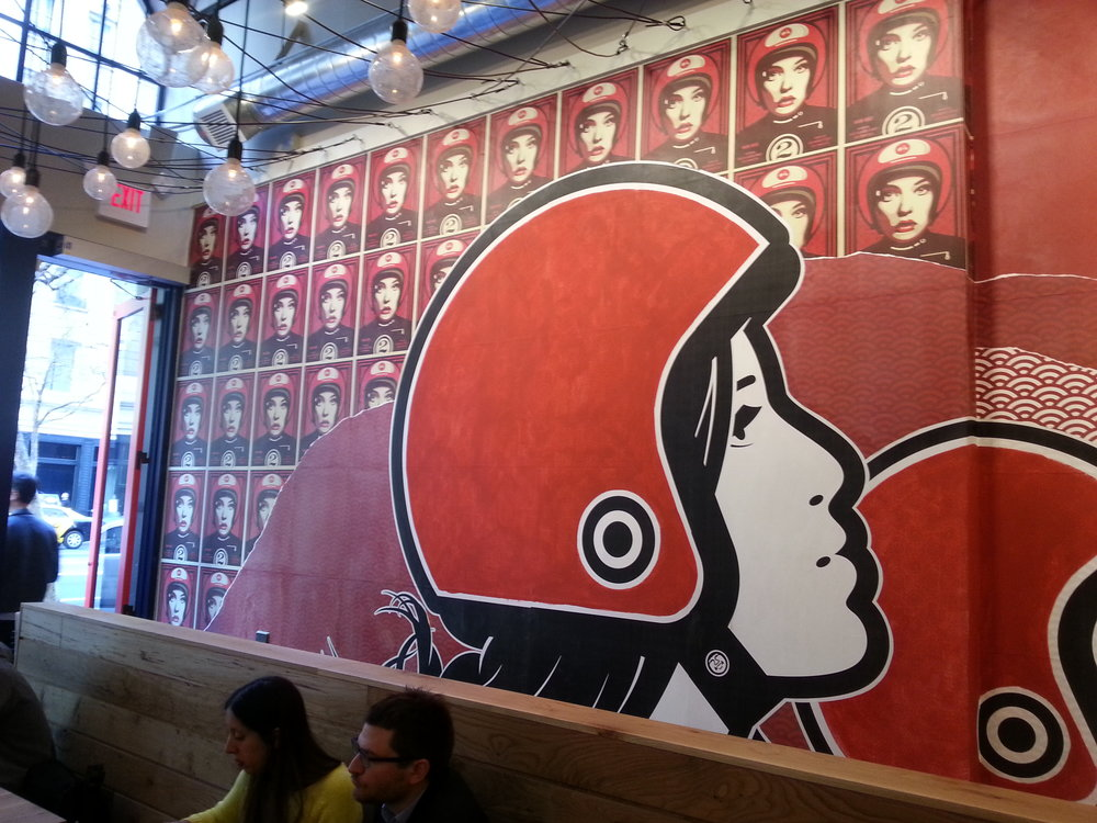 The super cool splash wall at Bun Mee in San Francisco, CA.  I've been looking for an excuse to use this picture.  I think it's interesting, so there you go!    This post may contain affiliate links.  Learn more by reading my  disclosure .