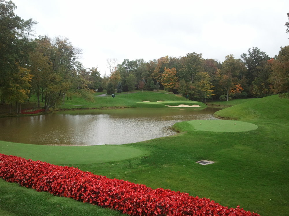 One of the holes at The Muirfield Village Golf Course in Dublin, Ohio.    This post may contain affiliate links.  Learn more by reading my  disclosure .
