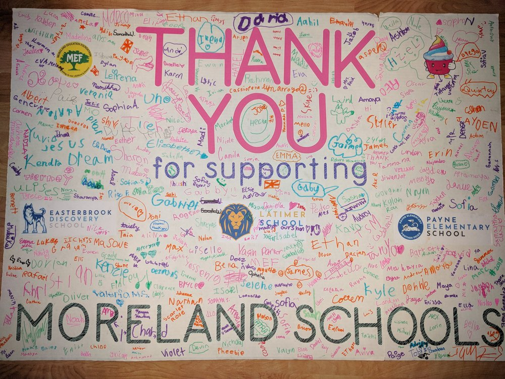 A BIG Thank You from our Appreciative Moreland School Yogurt Party Winners