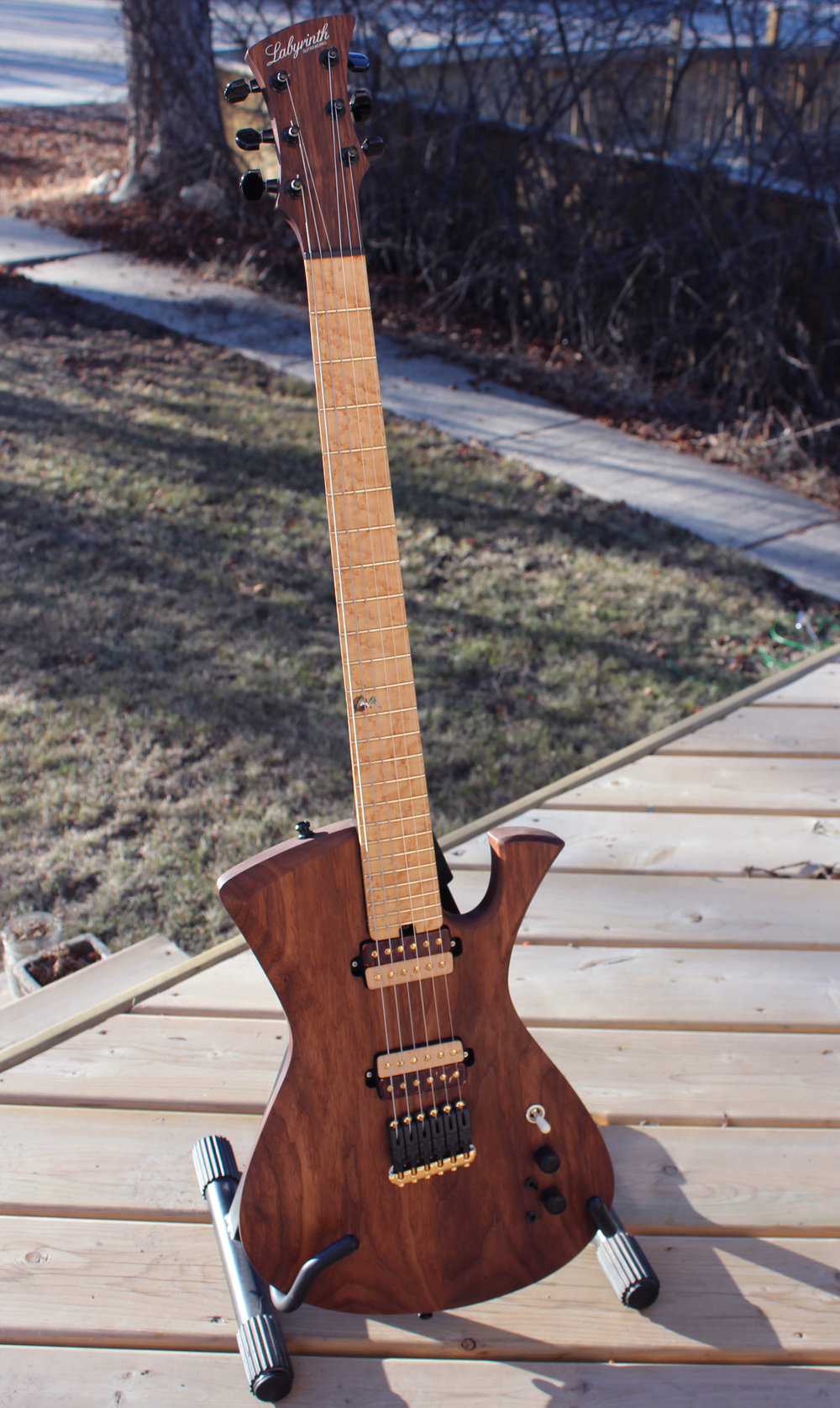 Dissentient - The first Dissentient prototype, also Labyrinth #001. Walnut body, 25.5