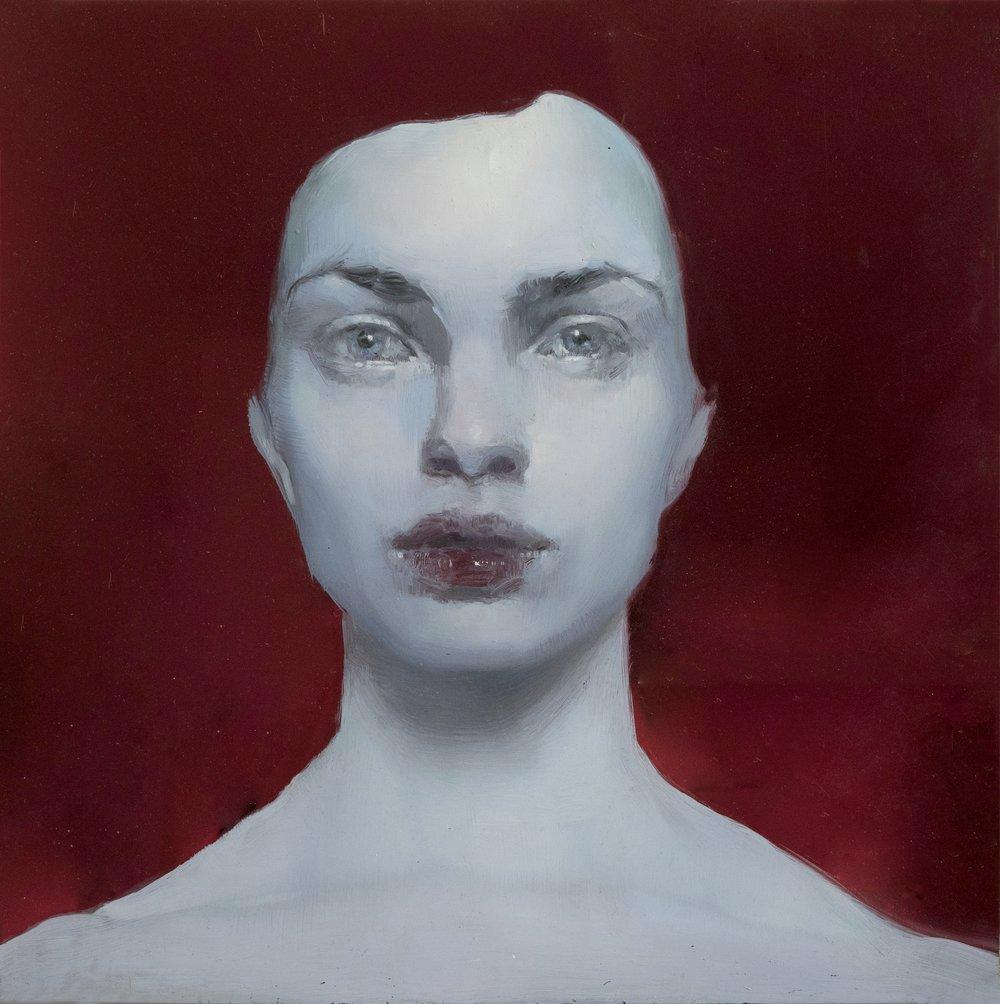 Maria Kreyn _ eva _ 12 x 12 inches _ oil on red plexiglass .jpg