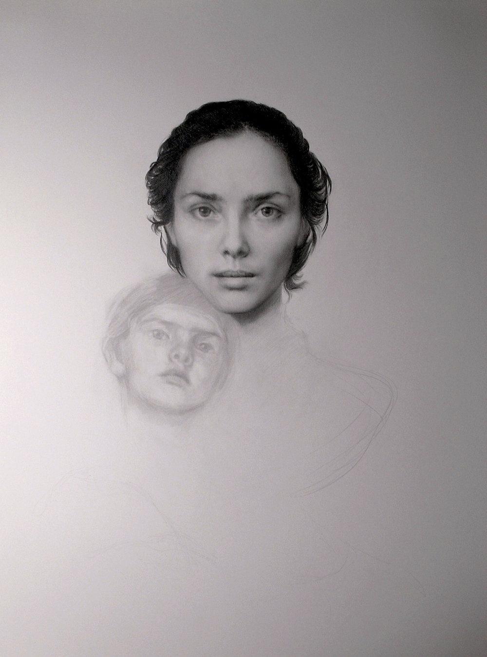 maria kreyn -  mother and child. graphite .JPG