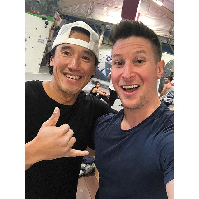 No big deal - in the gym all last week with now #OscarWinner @jimmychin! Amazing filmmaker, climber, skier, photographer and great guy. Congrats!