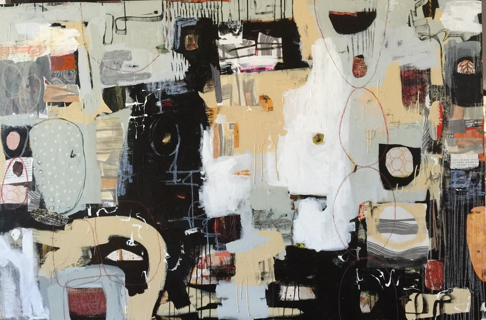 """Neutral Zone"" - 48 x 72 - mixed media on canvas"