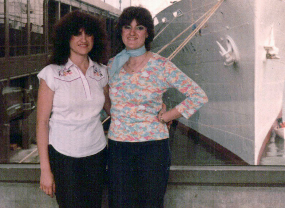 Elizabeth (left) and Kathryn (right)- 1982