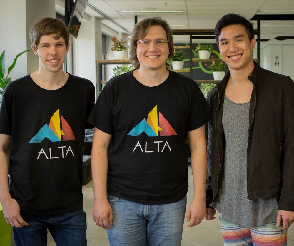 Alta Co-Founders, Joel van de Vorstenbosch, Tima Anoshechkin and Boramy Unn.