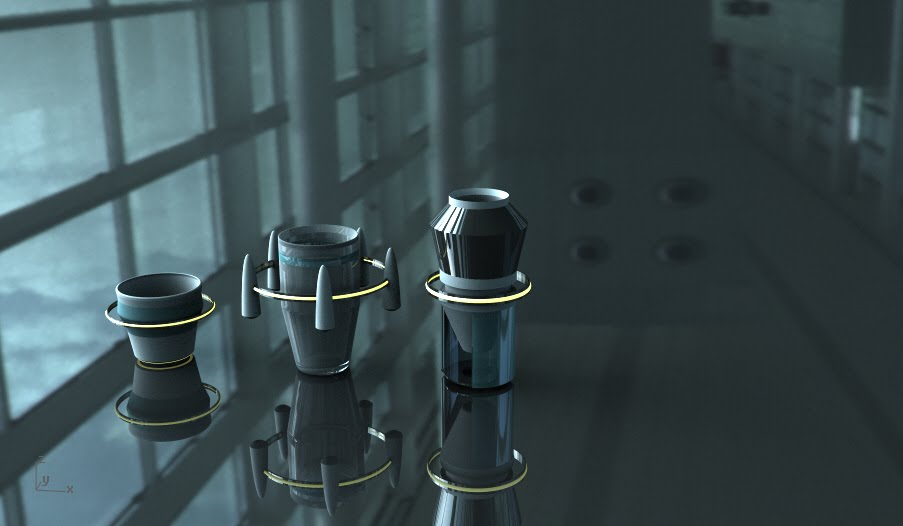 a cup set of space station forms