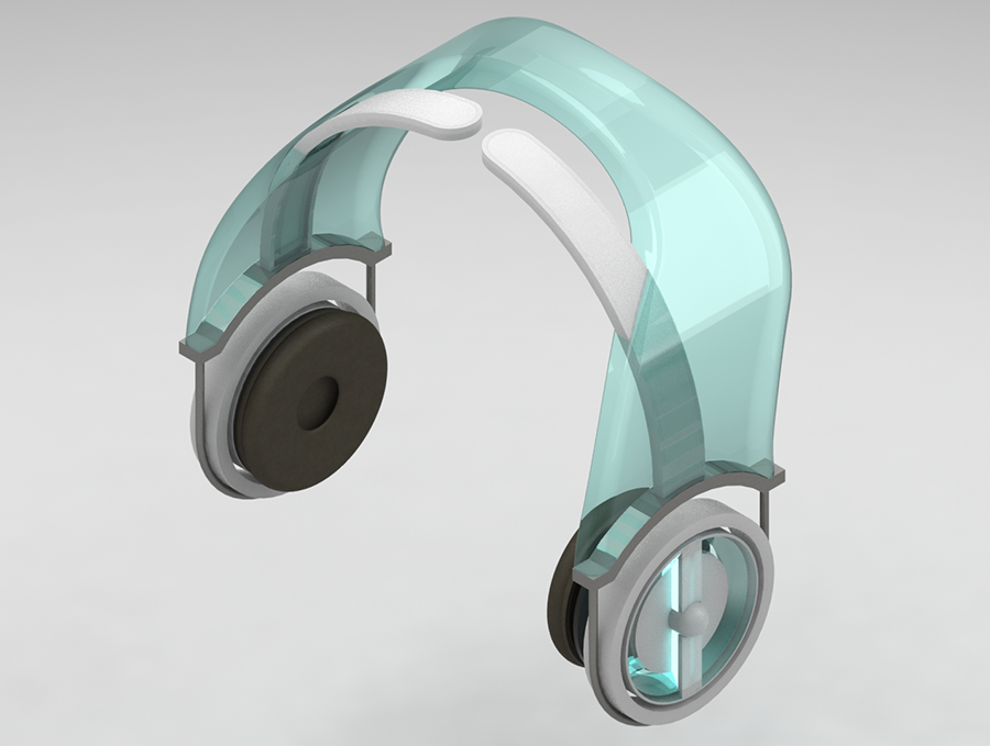 futuristic headphones