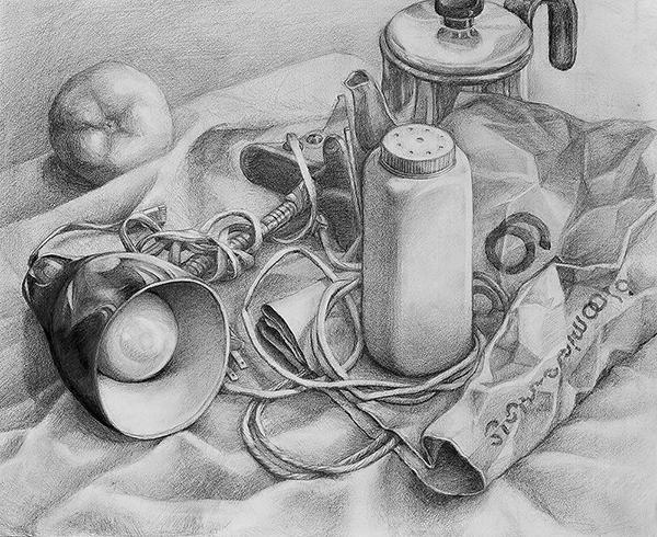 graphite still life