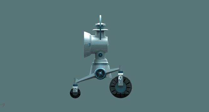 a robotic lantern companion