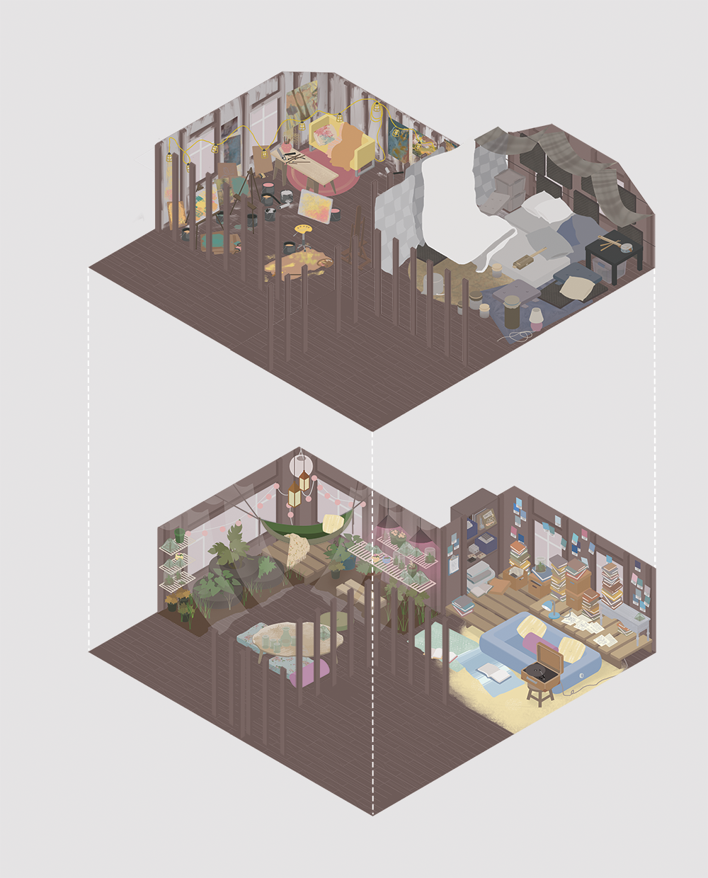 isometric views made in Photoshop