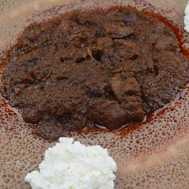 A growling stomach? We have the answer: Lamb Stew! #WhatWeShare  #OrganicFoods #Organic #GoodFood #HealthyFood #EatHealthy #EatRight #FoodWorthTravelingFor #Food #Foodie #ChicagoEats #ChicagoFood #Chicago #ChicagoLife #EthiopianFood #Ethiopian #Ethiopia #Injera #Wot #LambStew