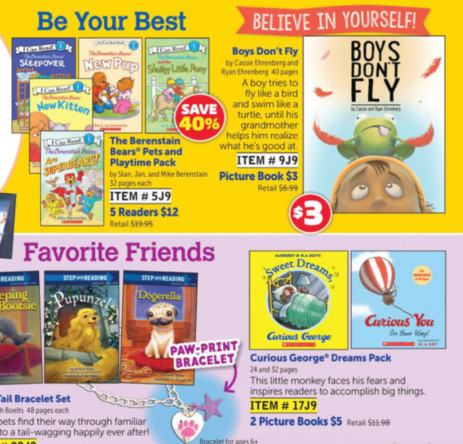 Appearing in the May 2018 Scholastic Book Club FireFly flyer