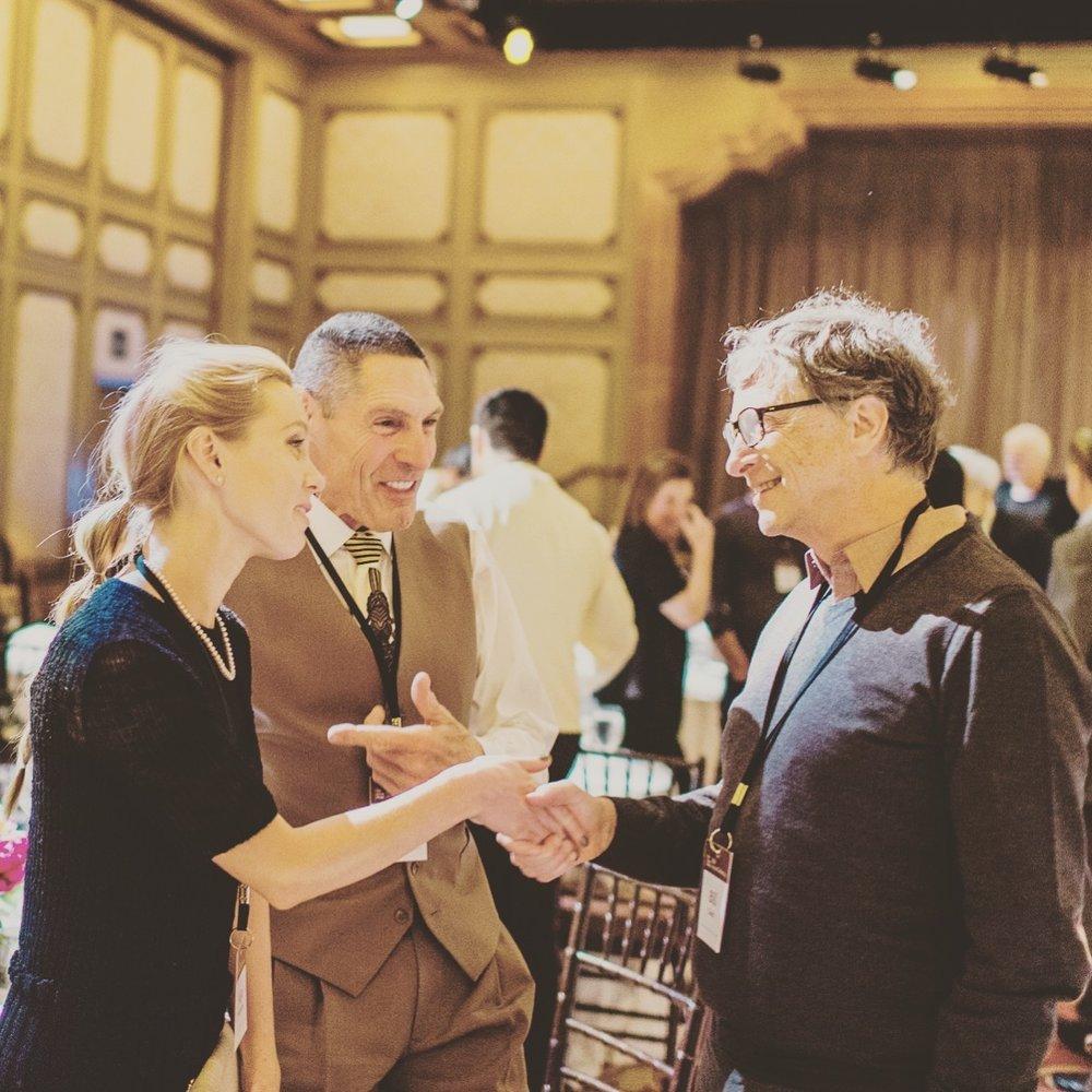 Alya&Gary Michelson with Bill Gates