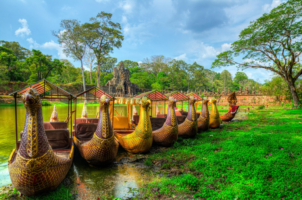 Cambodian boats (exclusive Tours to South East Asia)