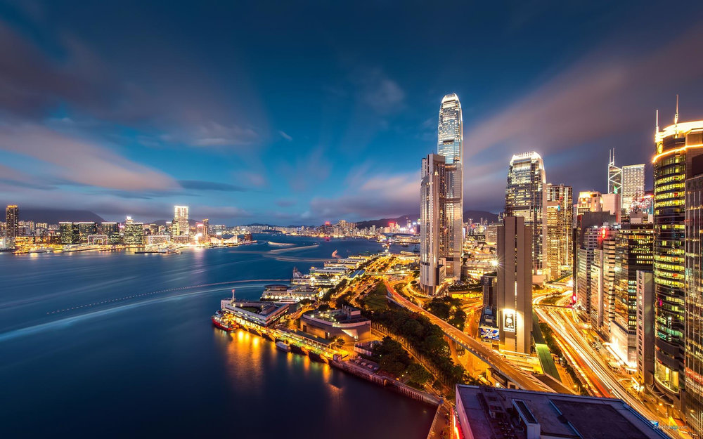 Hong Kong skyline (exclusive Tours to South East Asia)