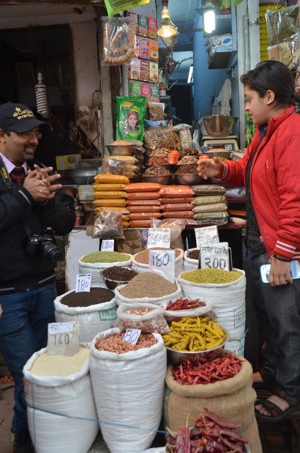 Old Delhi Market spice shop Beacon Holidays India tours