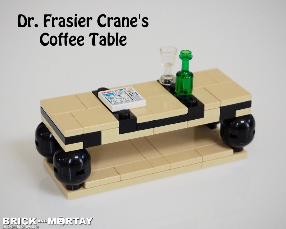 Dr Frasier Cranes Coffee Table Brick Mortay Brick Art
