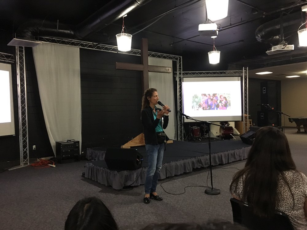 Rev. Alexia Salvatierra at the May 2017 leadership meeting
