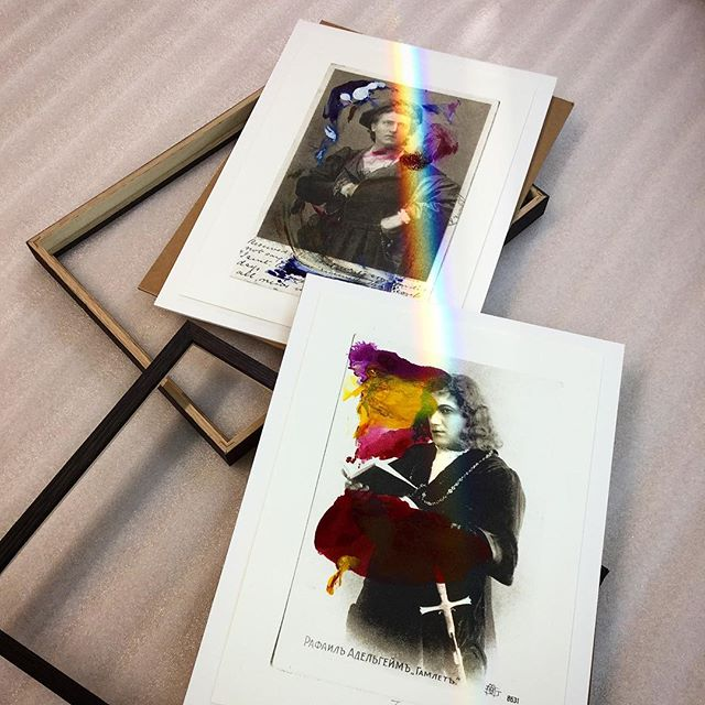 Two Tacida Dean prints from the @fruitmarketgallery catching the morning rainbow! 🌈. . . . .  #pictureframe #pictureframer #pictureframing #pictureframeshop #custompictureframing #artframe #bespoke #bespokeframing #workinprogress #designedforyou #designinspiration #madebyus #woodworking #artisan #handmade #handcrafted #supportthemakers #makersmovement #supportsmallbusiness #scottishbusiness #edinburghart #scottishart #creativejobs #instagood #lovemyjob #detail