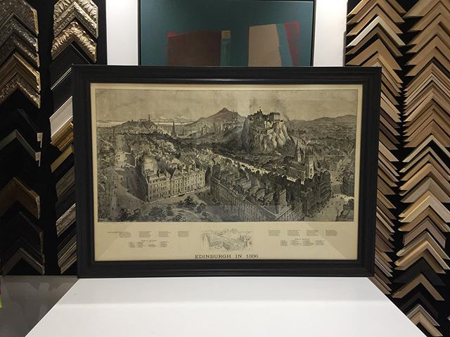 Edinburgh in 1886.  #edinburghart #edinburgh #scottishbusiness #bespoke #bespokeframing #supportthemakers #makermovement #pictureframeshop #pictureframer #pictureframing #custompictureframing #artisan #artframe #custommade #handmade #handcrafted #shoplocal #smallbusiness #antique #vintage #map #vintagemap #photooftheday #instagood #collection #coolfinds #oak