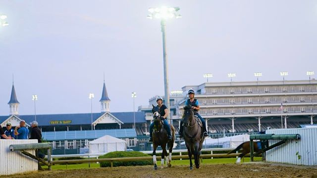Mornings at #Churchilldowns - #usa #kentucky #kentuckyderby #louisville #horse #racing #filmmaking