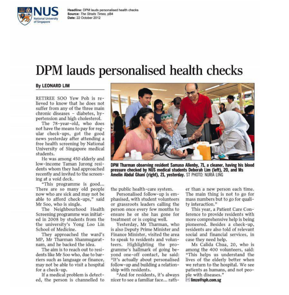 DPM lauds personalised health checks  | 22 october 2012