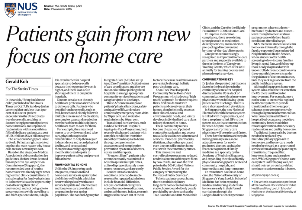 patients gain from new focus on home care  | 2 november 2015