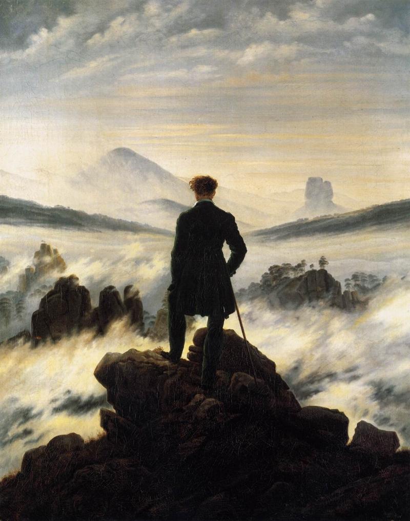 C.D. Friedrich, Wanderer above the Sea of Fog, 1818