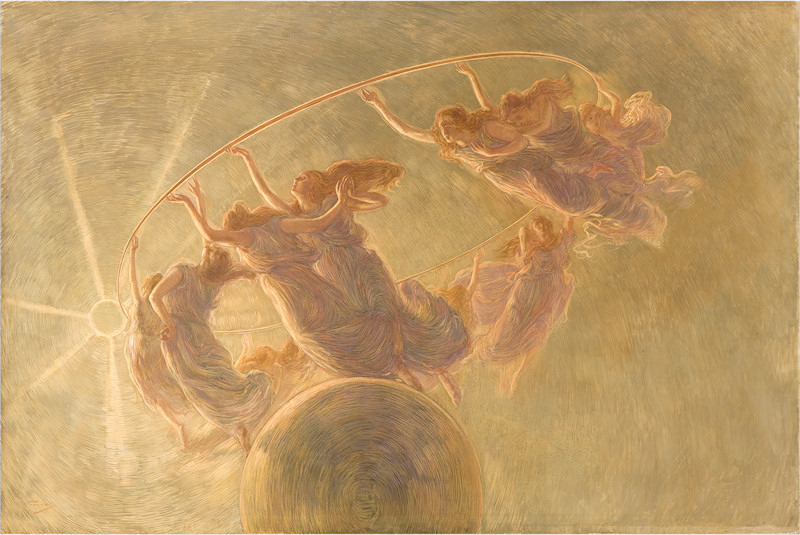 G. Previati, The dance of the hours, 1899