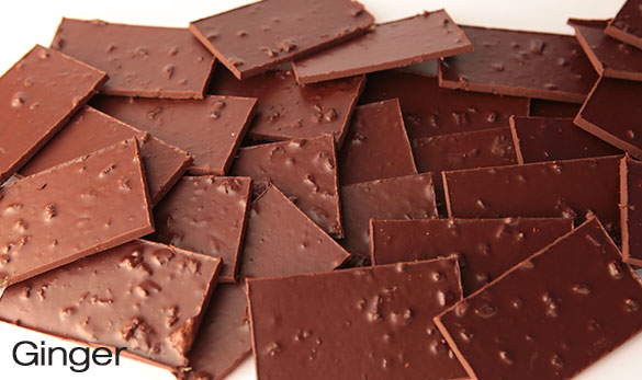 Claudio Corallo Chocolate 70% com gengibre cristalizado - 160g - Preço médio 16.50 €