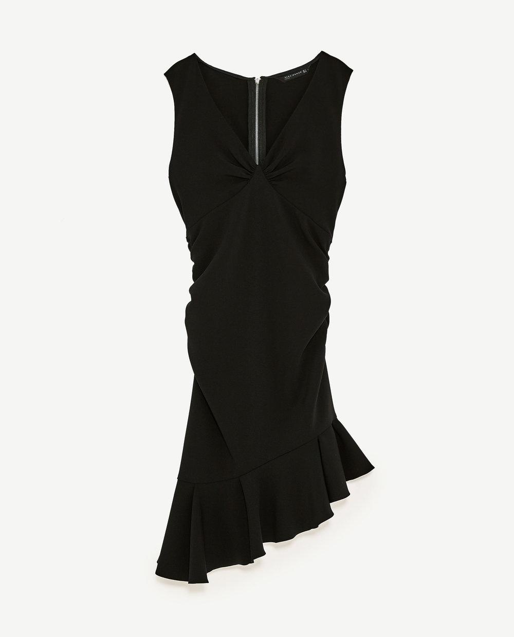 Vestido tubo com folhos, 39,95€