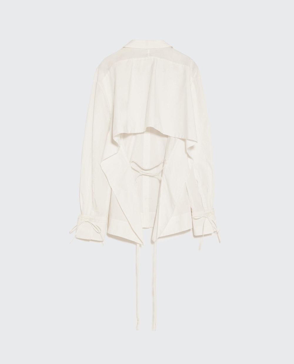 Camisa assimétrica com fita, 49,95€