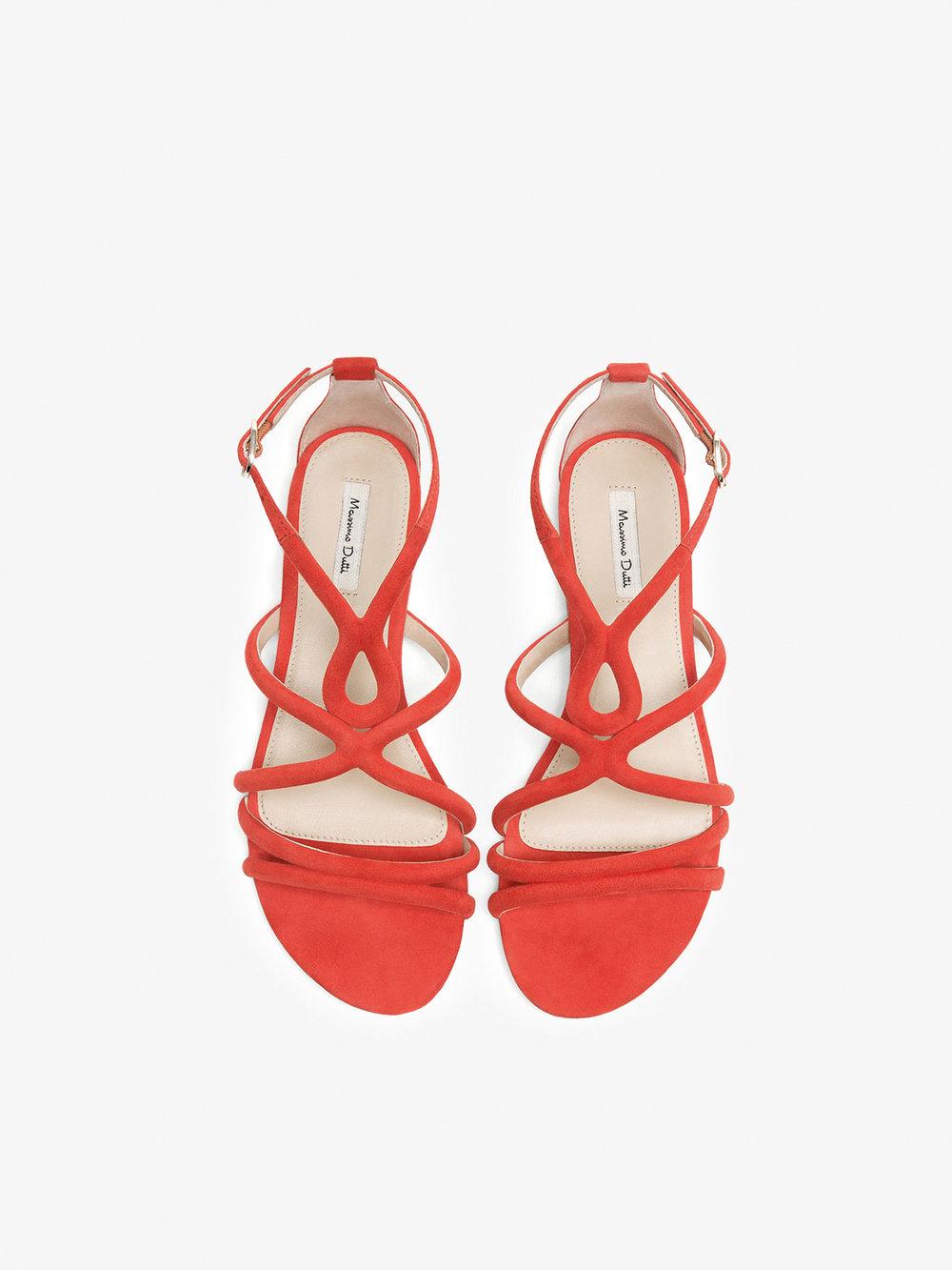 Sandálias em pele, Massimo Dutti