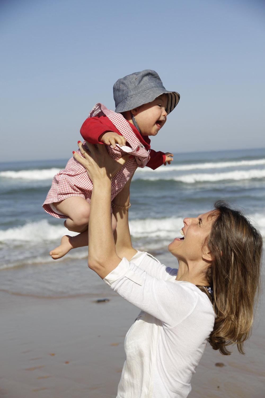 Filipa com o filho mais novo, Manel