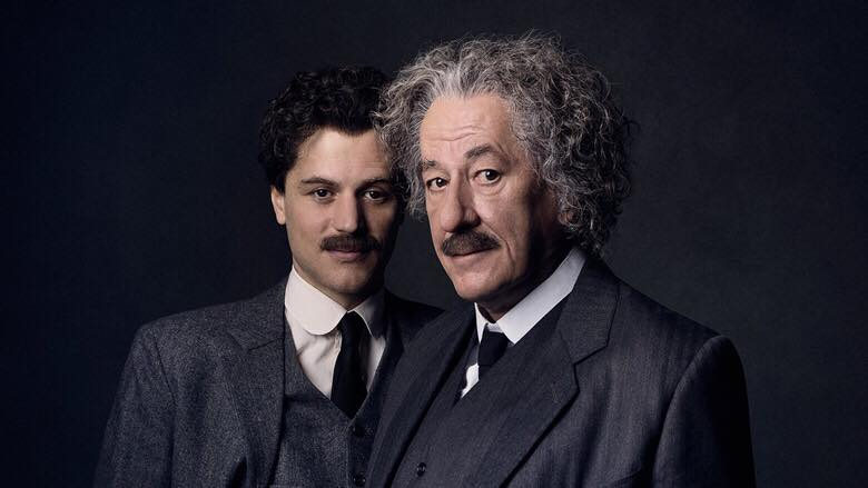 Geoffrey Rush e Johnny Flynn interpretam Einstein en  Genius  no National Gerographic