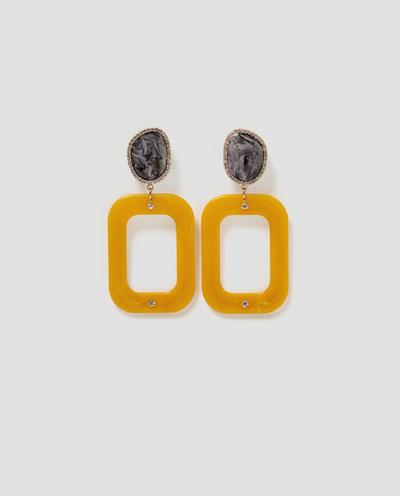 Brincos geométricos, 12,95€, Zara