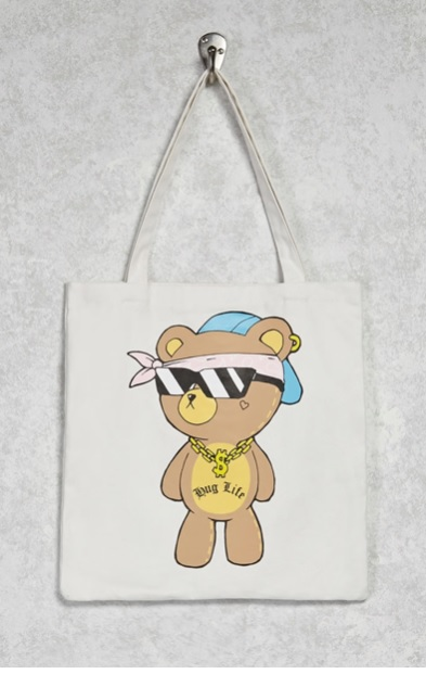 Hug Life Teddy Tote Bag