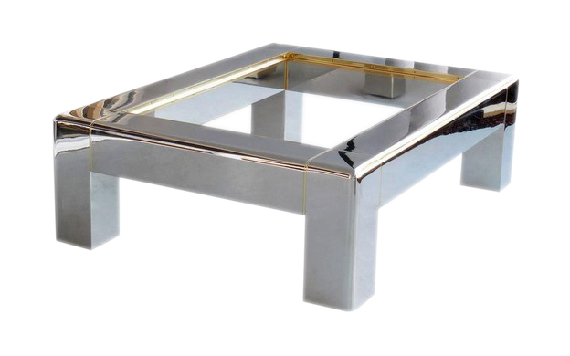 HEAVY PARSONS COFFEE TABLE
